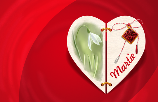 Martisor Virtual - March Illustration by nelutuinfo