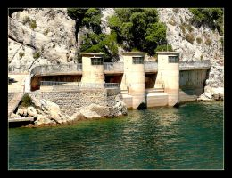Concrete Gate To Water - Mallorca by skarzynscy