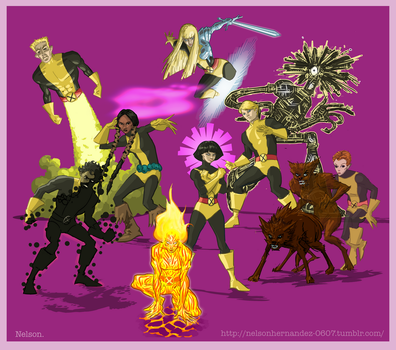 X-Men of the Day: THE NEW MUTANTS by NelsonHernandez