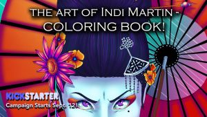 Kickstarter: The Art of Indi Martin Coloring Book by indigowarrior
