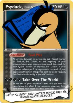 Psyduck, Evil Genius by endless-whispers