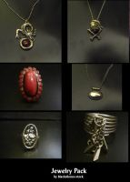 Jewelry Pack by blacksilence-stock