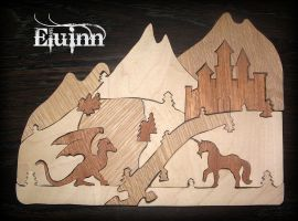 Scroll Saw Puzzle - Fantasy by Eluinn