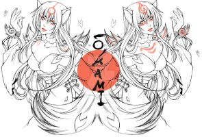 Amaterasu and Shiranui human by Rock-Monster