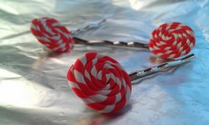 More Peppermint Swirl BobbyPin by Gynecology