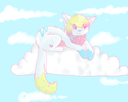 fluffy clouds by wingedkin