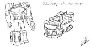 Shockwarp character design by ToMaz777