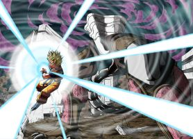 Kame Hame Ha against the Genmajin by PLATINUMBROLY