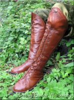 Leather Elven boots (inspired boots of Elrond) by Svetliy-Sudar