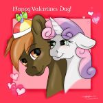 Happy Valentines Day Button Mash and Sweetie Belle by LilWolfStudios