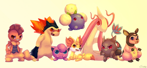 Zoey`s Pokemon team by cappydarn
