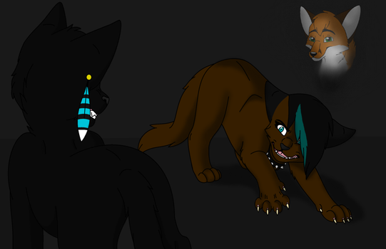 Jeckle defending Alex by Shadow-at-Nightfall