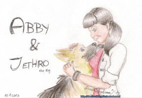 Abby and Jethro the dog by DaniWolfdog