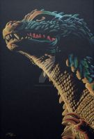 Technicolor Godziller by monsterartist
