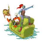 Papyrus and Undyne by ylee0730
