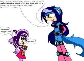Kyco and the robot lizard by queenmafdet
