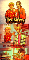 Fire Safety with Ace and Sabo by CodeNameZimbabwe