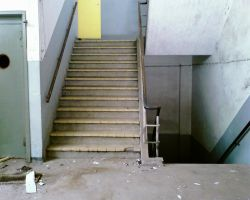 old factory stairs by priesteres-stock