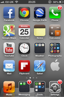 Apple Logo iPhone 4S Wallpaper Example by SimpleWallpapers