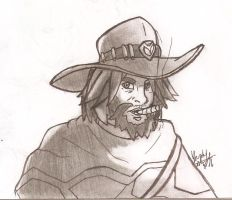 Overwatch McCree by HowSplendid