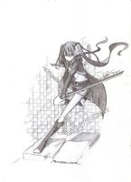 Black Rock Shooter and the strange katana :HALAH: by ChinekoChan