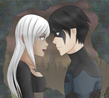 Nightingale + Nightwing for Catt-Nightingale by forgottencake