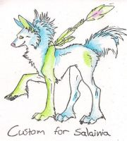 Custom for Salainia :D by Crazywolfs