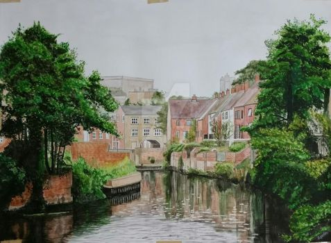 Norwich in watercolor 22x30 inches on 300gsm paper by AbhijeetGarde