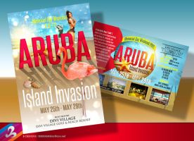 Aruba Island Ad Flyer by AnotherBcreation