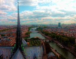 Amazing view from Notre Dame de Paris by nurbikedraws