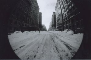 NYC in the Winter - Fisheye by newjuventud