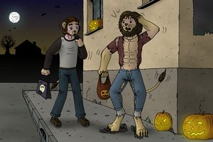 Halloween commission #3 - Feeding the lions by oldiblogg