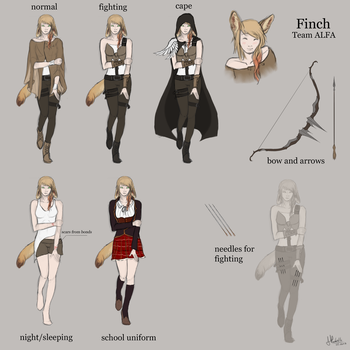 Finch Reference by BlackFireDeath