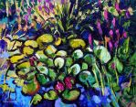 Water Lily Pond in the Garden of Mrs. T. by Art-deWhill