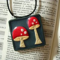 Magic Mushrooms Necklace by Mimi-Mushroom