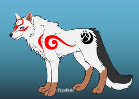 Apollo the solar wolf by Pythorisawesome