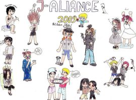 J-Aliance Chibis by Hoples