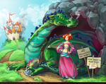 Princesses and Dragons by sparrow-chan