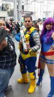 NYCC 2014 - Cable and Psylocke Cosplay by DestinyDecade