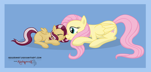 Fluttershy and Velvet Paw by Isegrim87