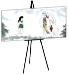 MINIATURE ART - Sesshomaru and Kagome encounter by Angelhart79