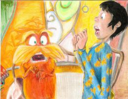 The Lorax and the Once'ler screaming by Mia-Oneill