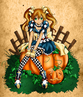 Autumn Pumpkins by Firekeeper47