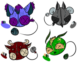 ~Button Bell Adopts (1/4 OPEN)~ by Adoptables-On-Board