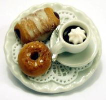 Miniature Viennoiseries Brooch by Alusaf