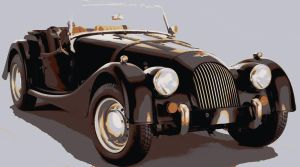 Morgan Car Paint By Number Art Kit by numberedart