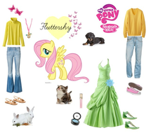 Fluttershy polyvore set by mexicangirl12