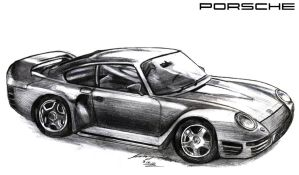 Porsche 959 Supercar by toyonda