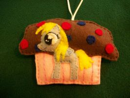 DERPY MUFFIN Handsewn Pony Ornament by grandmoonma