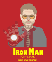 Vector - Iron Man T-Shirt Design by MattBowring